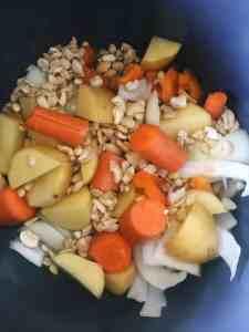Vegan Chili Cheese Sauce Ingredients in Instant Pot