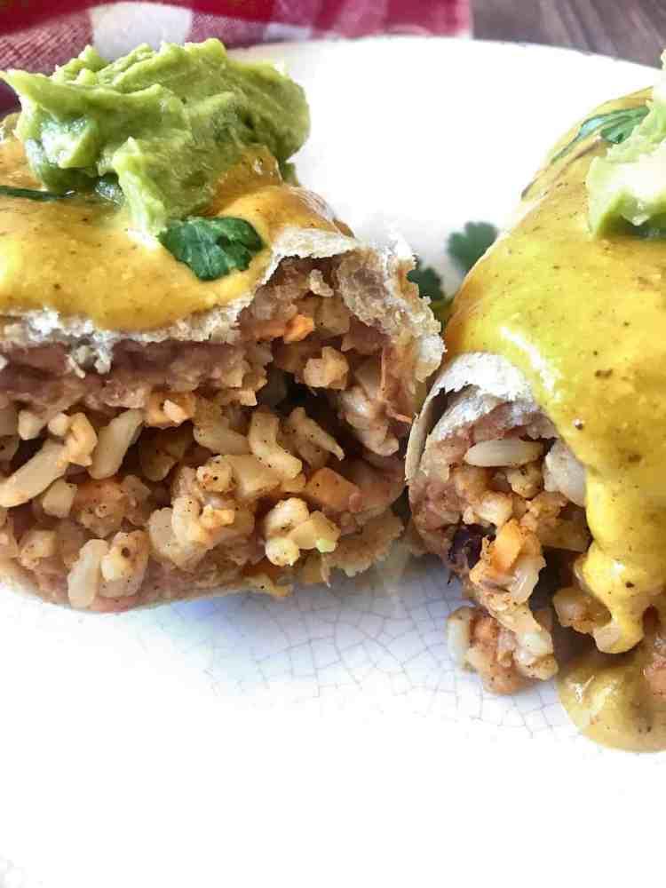Vegan Cauliflower Burrito Front View