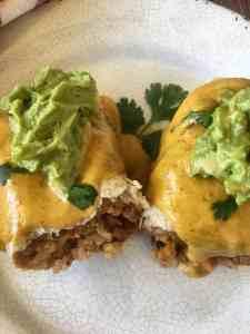 Vegan Cauliflower Burrito Top View