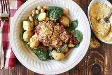 Italian Potatoes Served