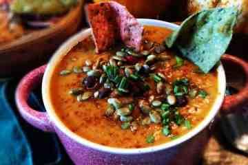 Vegan Pumpkin Black Bean Soup