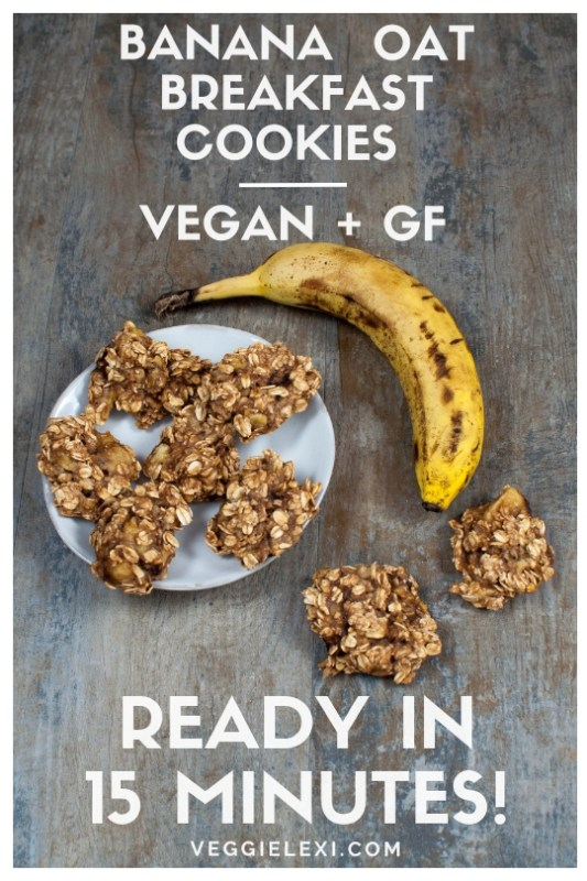 Banana Oat Breakfast Cookies that are Vegan and Gluten Free - by Veggie Lexi