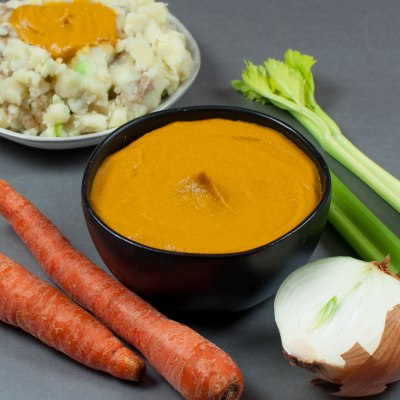 Vegan and Gluten Free Carrot Gravy.