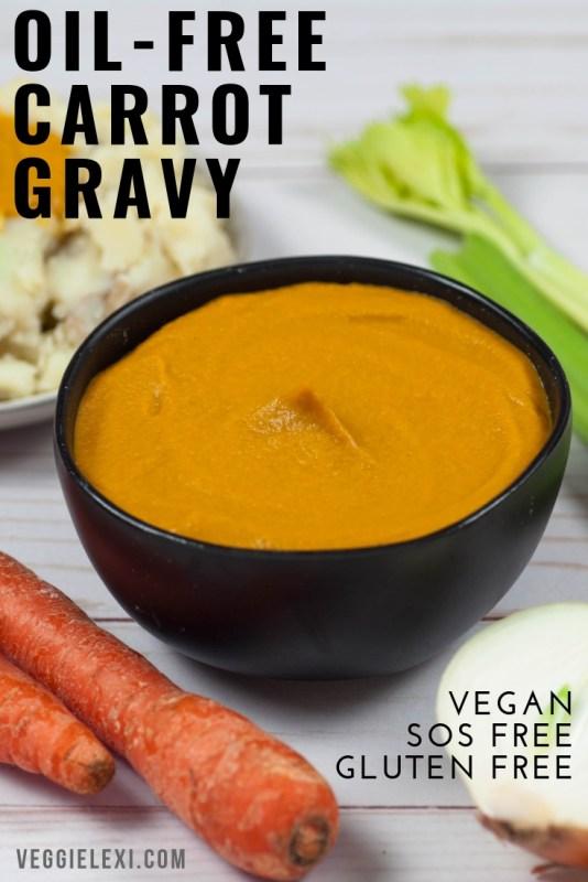 Vegan, SOS (Salt Oil Sugar) Free, Gluten Free Carrot Gravy.
