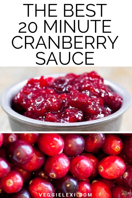 Vegan Cranberry Sauce Made with Orange Juice and Lemon Juice - by Veggie Lexi