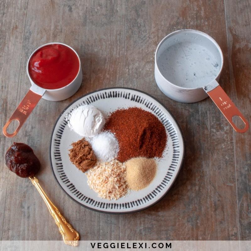 Easy 5 Minute Enchilada Sauce That's Vegan, Gluten Free, Oil, Free, and Sugar Free - by Veggie Lexi