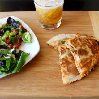 SPICY TUNA & OLIVE QUESADILLA
