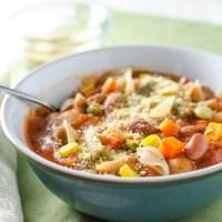 Quick Veggie Minestrone Soup {Vegan and GF}