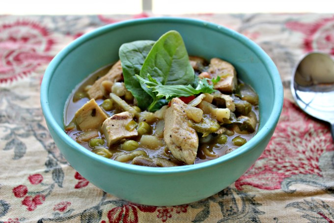 Vegan Chicken Vegetable Soup is the perfect thing for a cold day or for when you're feeling a bit under the weather. It's chock full of fresh veggies and packing some heat.