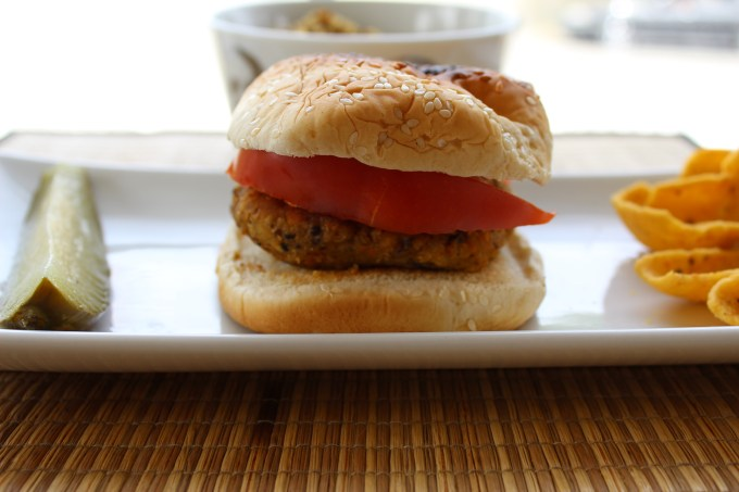 Chickpea Veggie Burgers with quinoa are a great, fresh alternative to a store-bought frozen pattie.