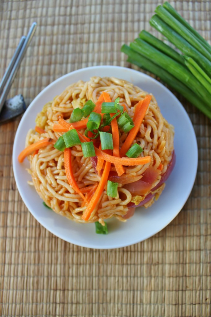 Veggie Yakisoba with Avocado is a quick and easy recipe for busy weeknights. It tastes great as a cold leftover too.