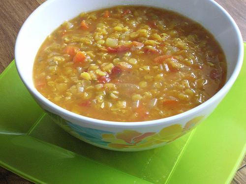 lentil veggie soup