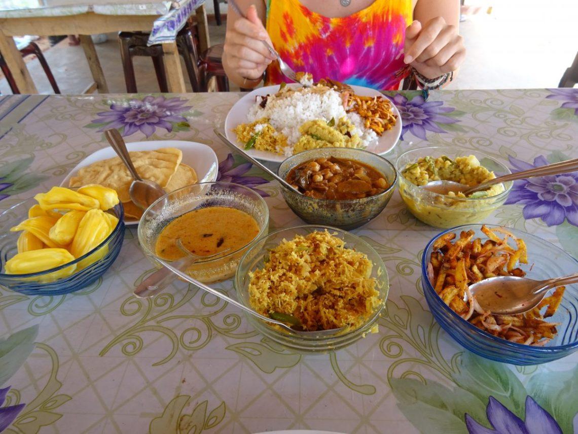 Delicious vegan curry in Sri Lanka