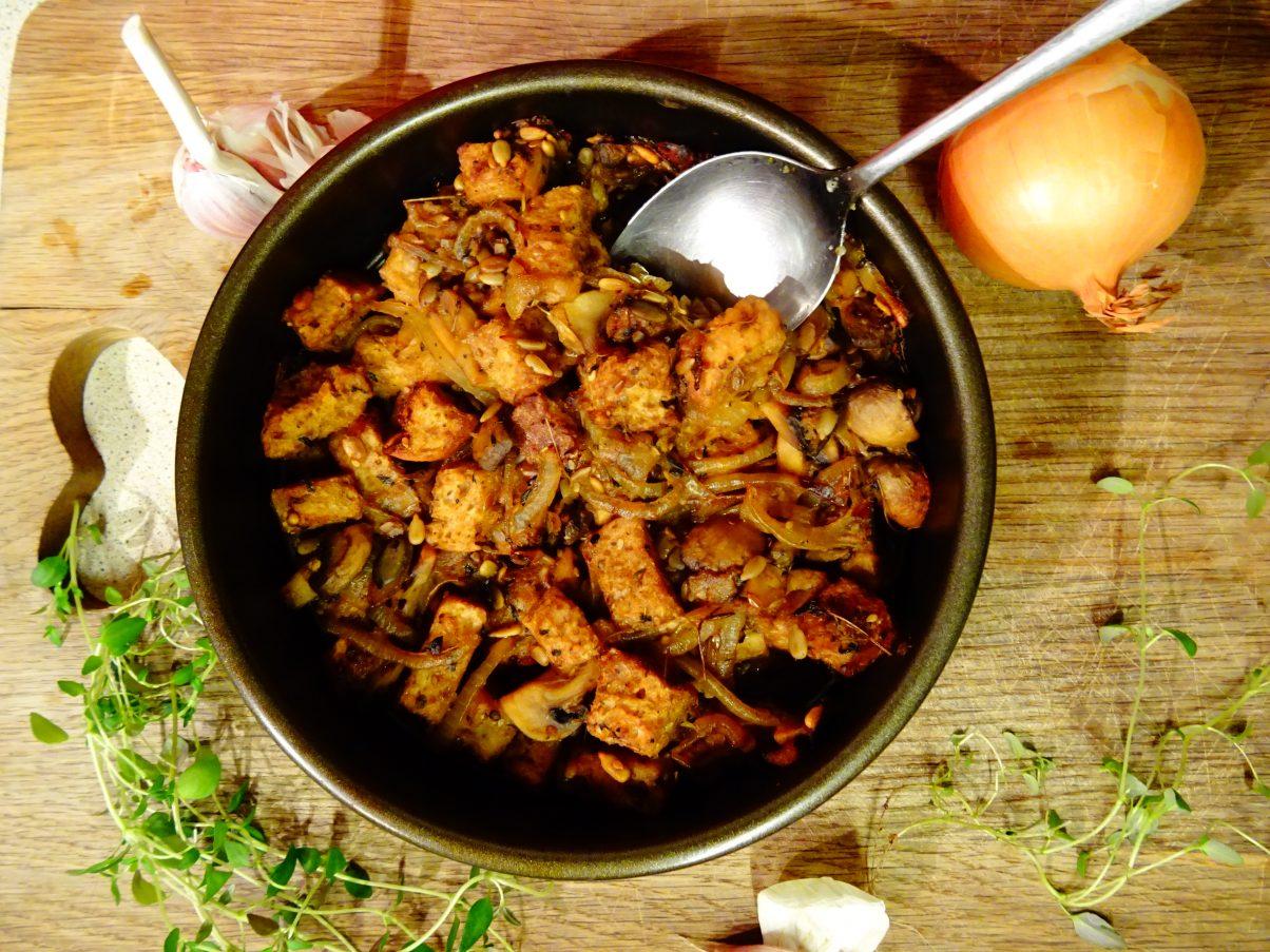 Vegan Mushroom Chestnut Stuffing