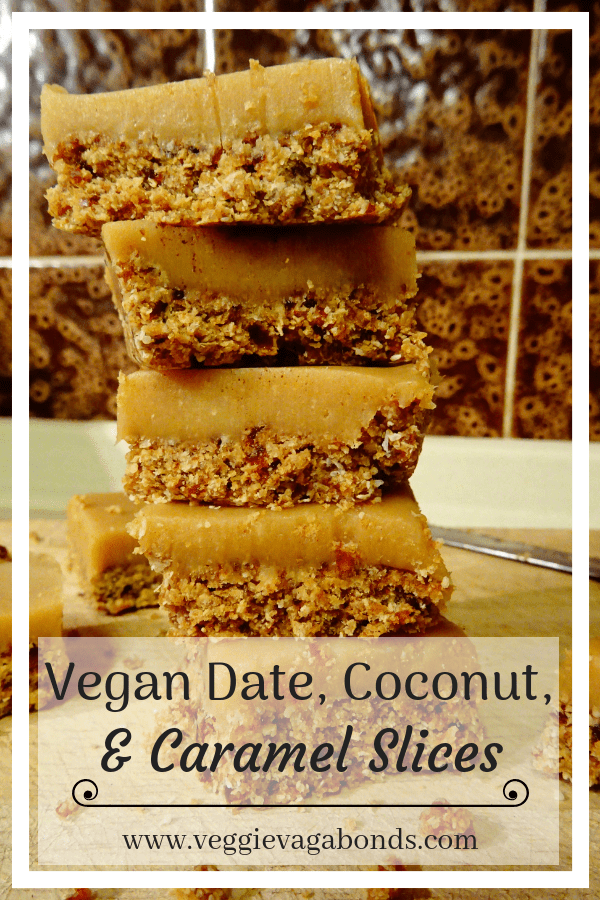 Vegan Date, Coconut & Caramel Slices