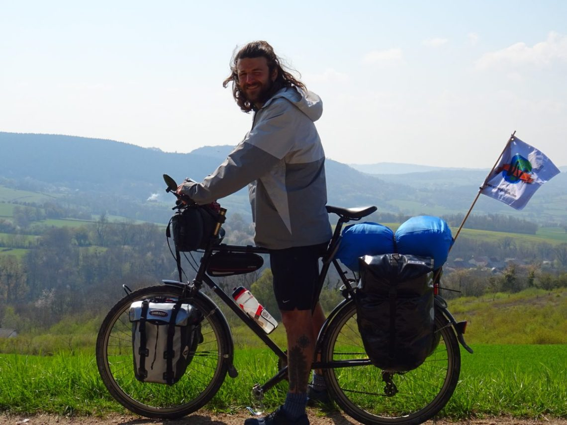Cycle Touring Man landscape