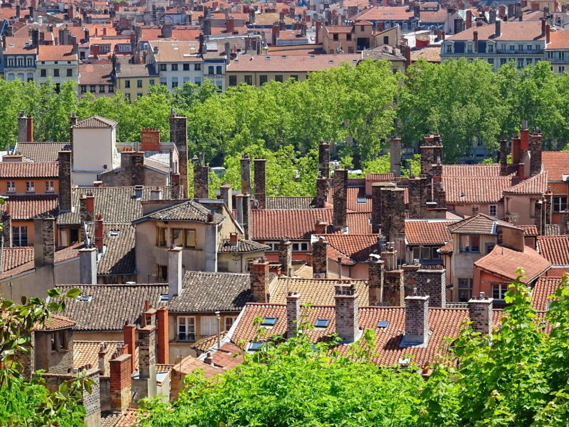 Terracotta roofs of Vieux Lyon