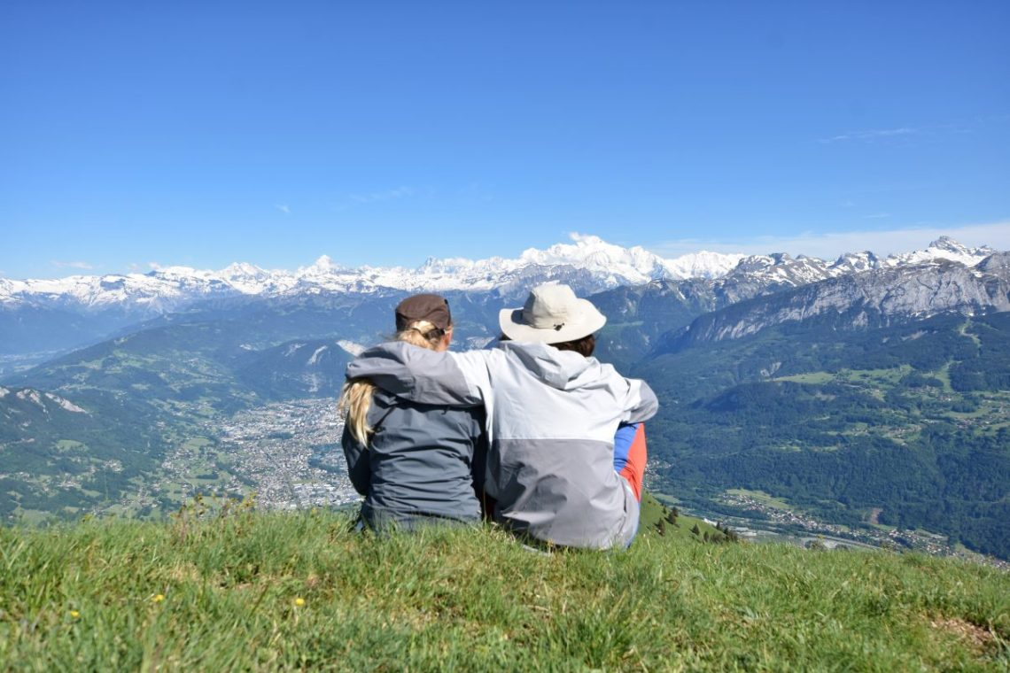 Couple overlooking the Alps