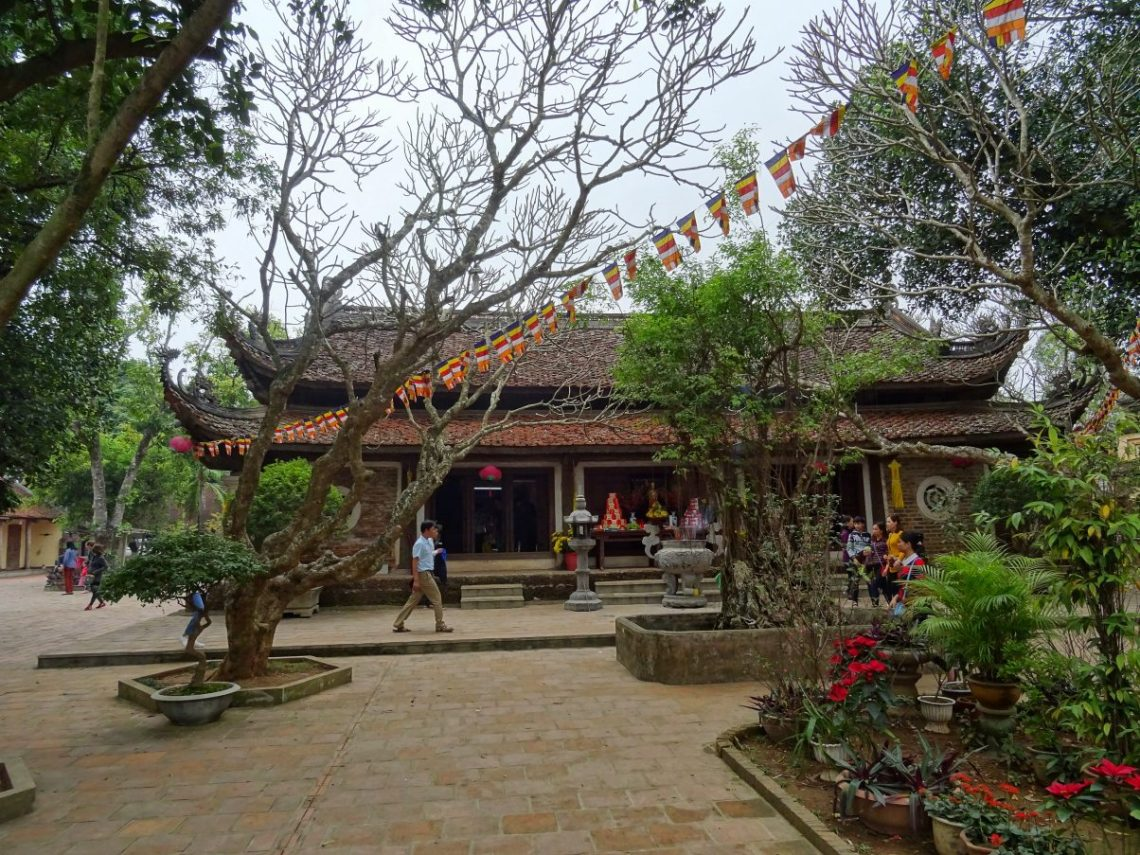 A traditional Buddhist temple in Vietnam
