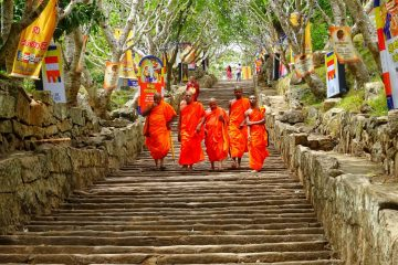 Monks in Sri Lanka