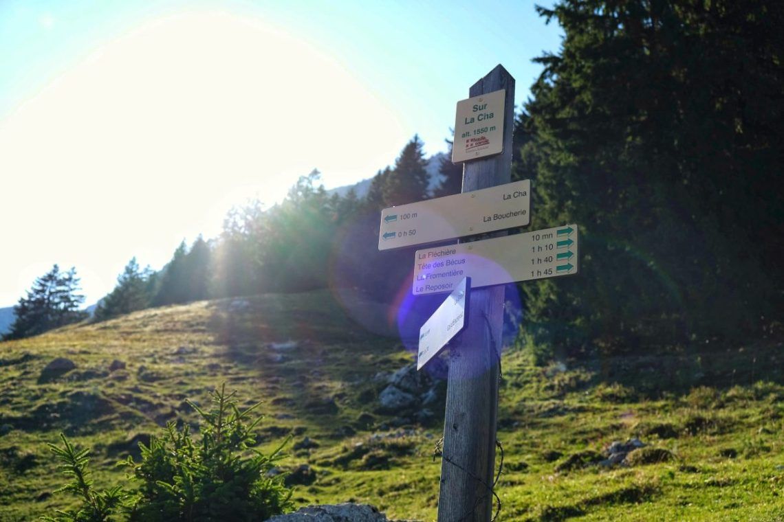 French hiking directions