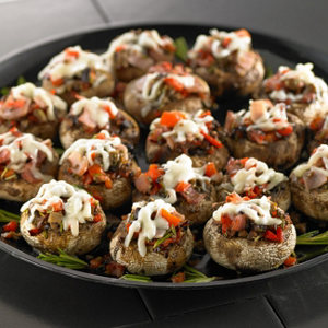 Stuffed mushrooms with tofu