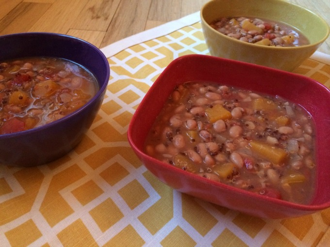 Quinoa, Squash and Bean Soup