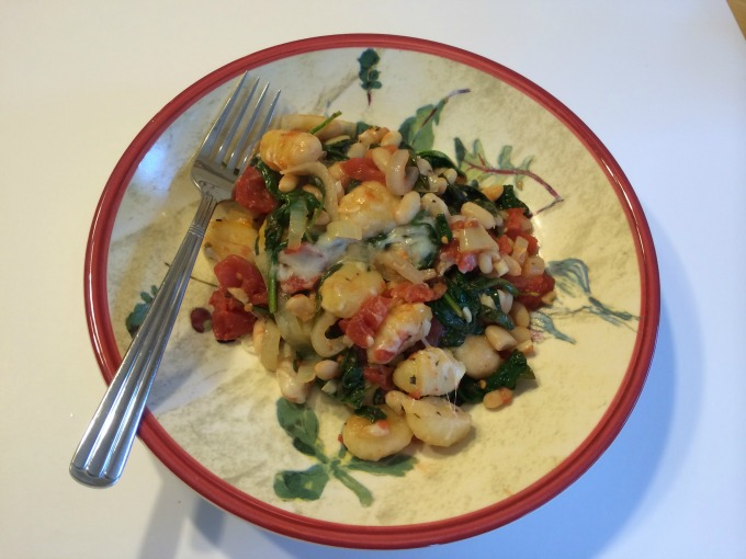 Gnocchi with Spinach and White Beans