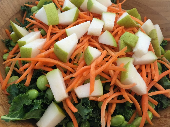 Pears, Carrots and Edamame