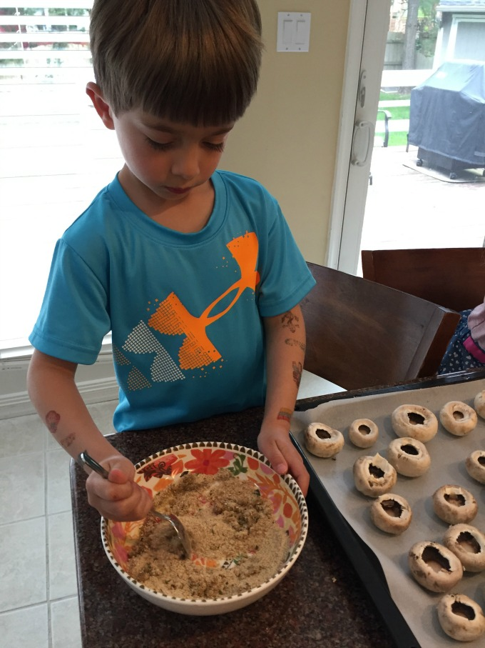 Mixing Breadcrumbs