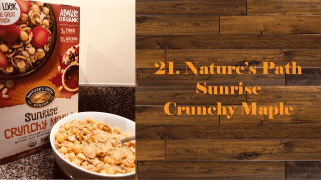 Nature's Path Sunrise Crunchy Maple