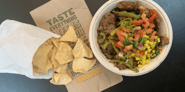 Qdoba Impossible Fajita Bowl