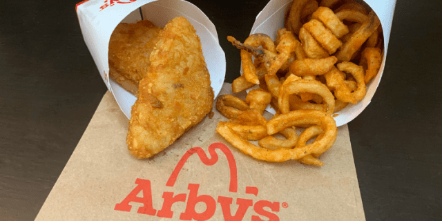 Arby's Potato Cakes and Curly Fries