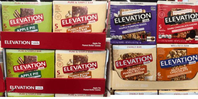 Aldi Vegan Elevation Bar varieties