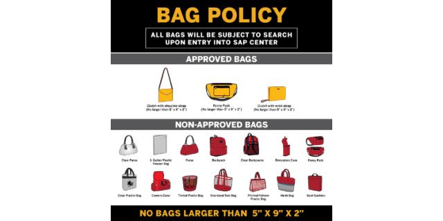 SAP Center Bag Policy