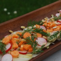 Kohlrabi, Radish and Carrot 'Ceviche': Virtual Vegan Potluck