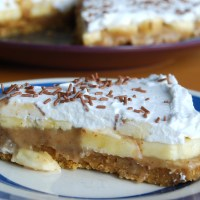 Banoffee Pie - Vegan and Gluten Free - Vegan MoFo 2014