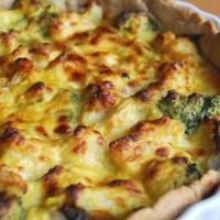 Cauliflower and Broccoli Cheese Tart
