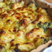 Cauliflower and Broccoli Cheese Tart