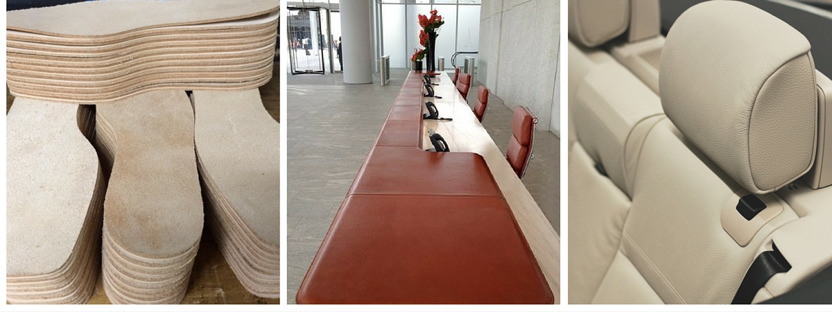Vegetable tanned leather applications; footwear, interiors, automotive