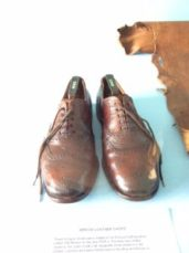 shoes from leather found