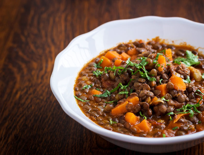 Hot Lentils Stew – Vegan Recipe