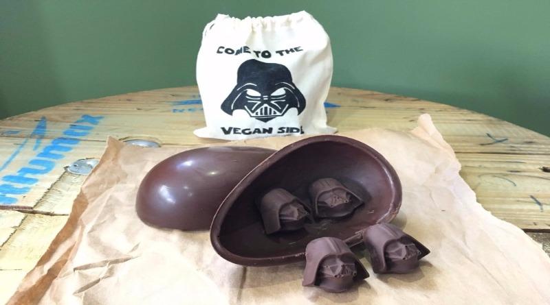 Apaixonada por 'Star Wars', culinarista vegana produz ovos de chocolate 'Darth Vegan'