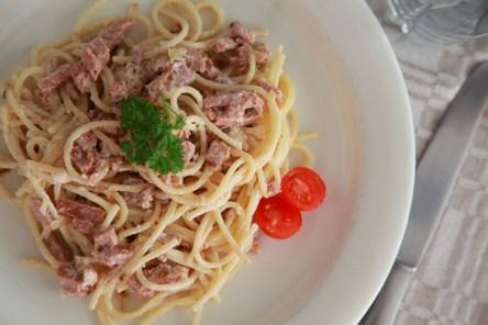 Recept Pasta Carbonara vegan