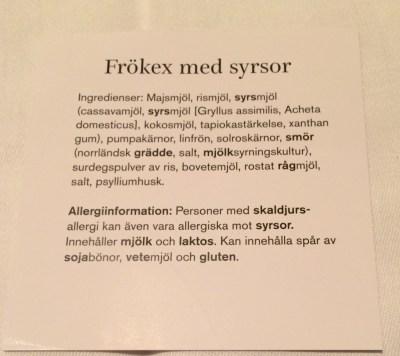 Frökex med syrsor Polarbröd Utstickarpriset