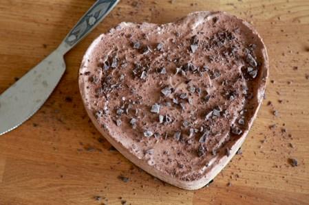 Hjärtans dag, chokladtårta med mandel