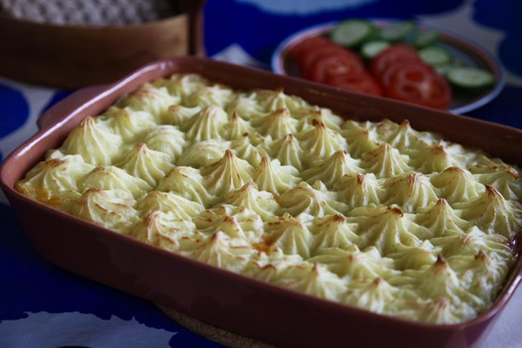 Vegetarisk Shepherd's Pie, Engelsk herdepaj
