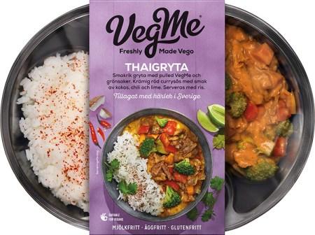 Färdigmatsförpackning med ris och gryta