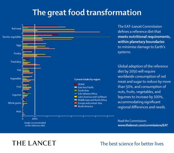 "Graf med rubriken ""The great food transformation"""
