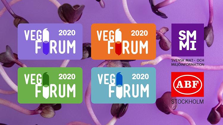 Texten Vegoforum mot lila bakgrund